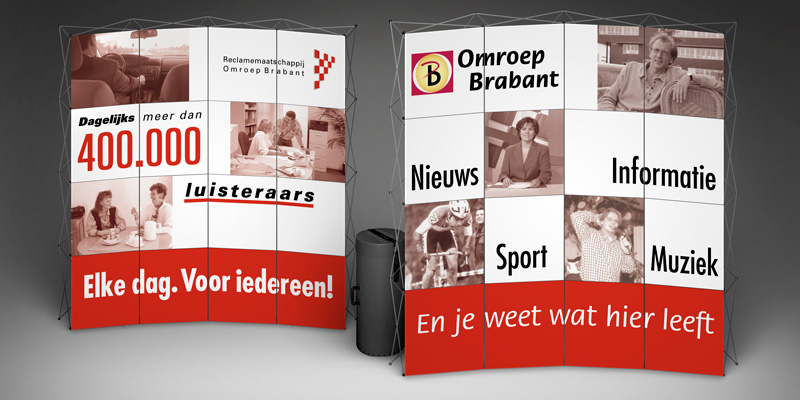 Displays for Omroep Brabant