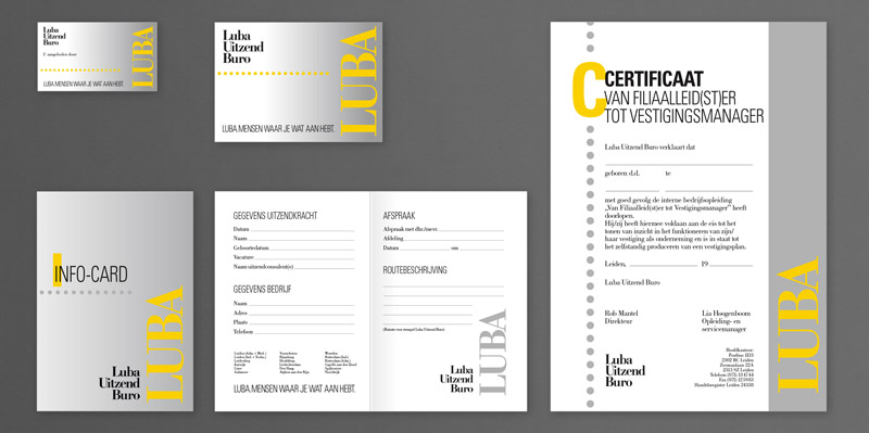 Graphic design for Luba Uitzend Buro