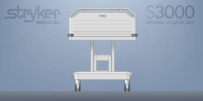 Stryker 3000 Hospital bed concept drawing