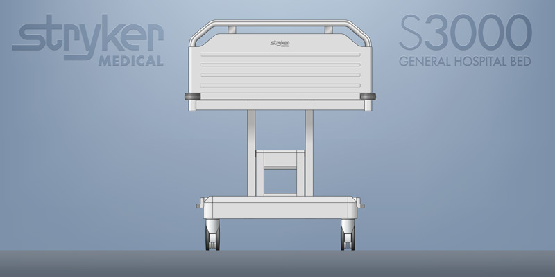 Jve d portfolio stryker 3000 hospital bed for Bed tech 3000