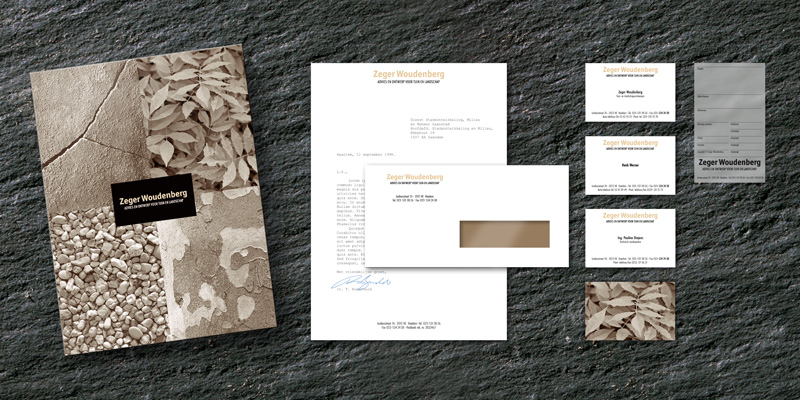The focal point of the Zeger Woudenberg identity is the presentation folder.