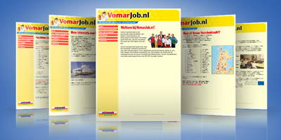 Screenshots of the VomarJob website